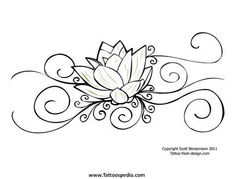 lotus tattoo designs black and white flower tattoos