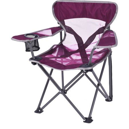ozark trail folding chair with built in cup holder ozark trail deluxe kid mesh chair with cup holder purple