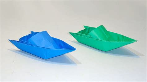 origami boat that floats on water how to make paper speed boat that floats on water