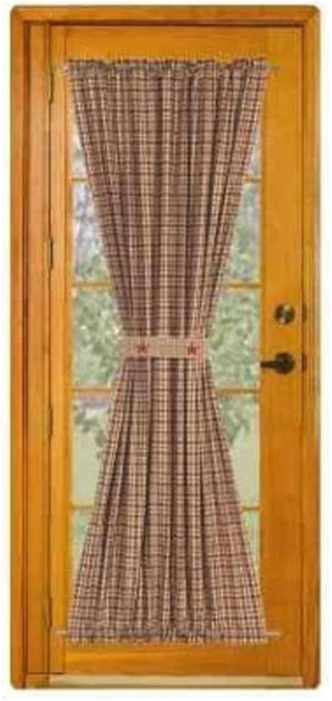 primitive curtains for french doors french door curtains 7 most stylish hometone
