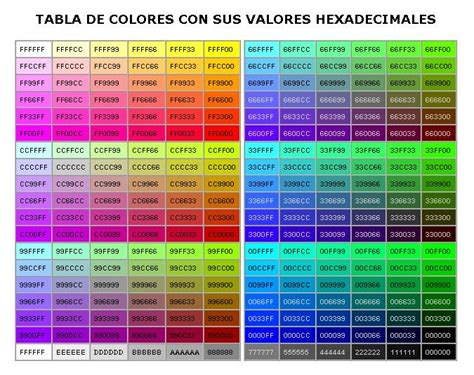 ascii color codes informatica codigo de color rgb