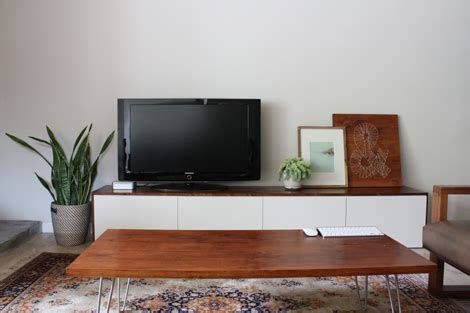 long low tv bench creative low profile media console for small living room
