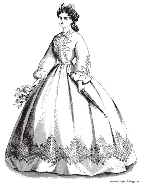 vintage dress coloring page vintage clothing coloring pages diannedonnelly com