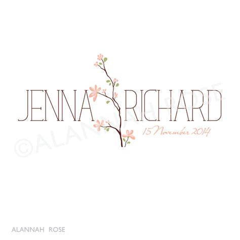 Wedding Logo by Alannah Wedding Invitations Stationery Shop