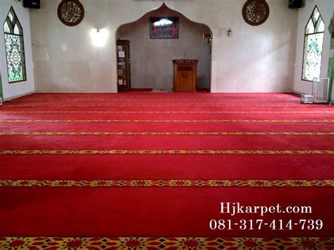Karpet Lantai Masjid pemasangan karpet masjid jabal ar rahmah pamulang