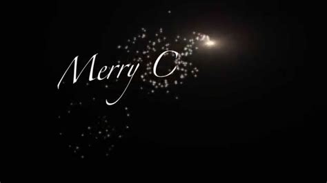 animation merry christmas sparkle reveal video youtube