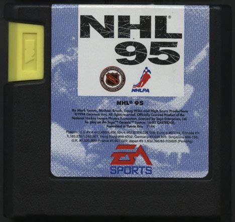 Kaset Cartridge Sega Nhl the start of the affair nhl 95