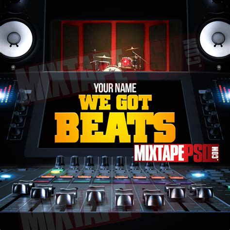 free mixtape templates mixtape template we got beats 3 mixtapepsd
