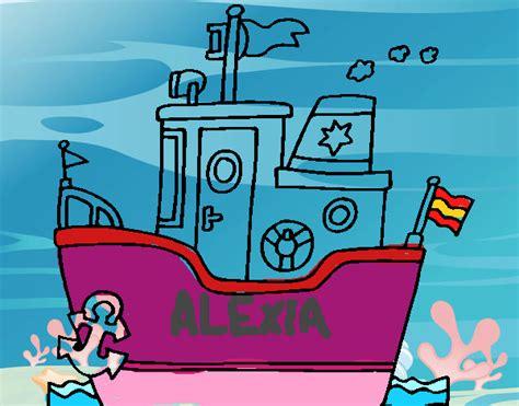 barco con ancla dibujo dibujo de barco con ancla pintado por en dibujos net el