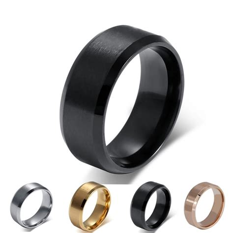 silver black gold wedding rings fashion silver black gold ring stainless steel ring