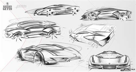 ferrari sketch ferrari getto concept design sketches car body design