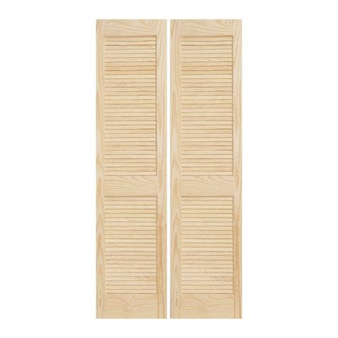 louvered closet doors home depot jeld wen 30 in x 80 in woodgrain 2 panel louver solid wood interior closet bi fold