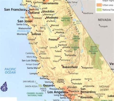 california map eeuu mundoteka 187 eeuu ardiente california