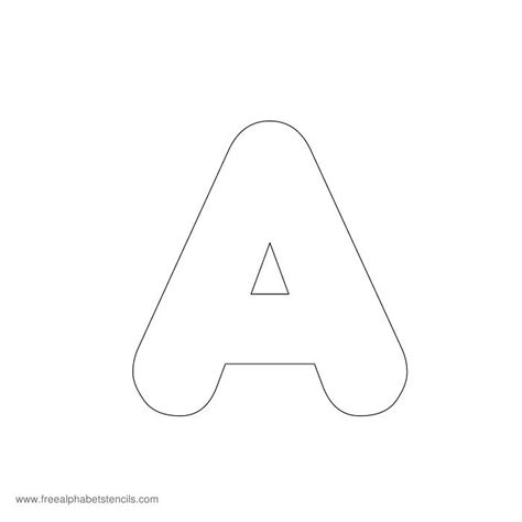 template for alphabet preschool alphabet stencils freealphabetstencils