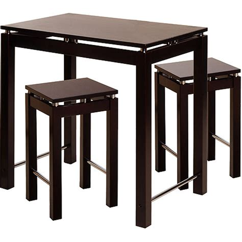 linea kitchen island 3 breakfast set espresso