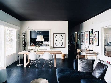 black painted rooms here s why you should paint your ceiling black the accent