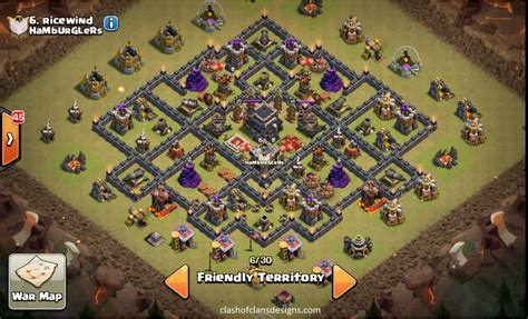 coc strong layout town hall 9 war base layouts 2016 coc designs