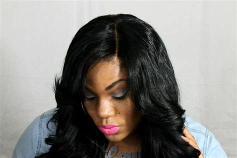 3 way part hairstyle styling my 3 way parting closure wig youtube