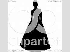 Wedding Dress clipart debutante - Pencil and in color ... Free Clipart Bride Silhouette