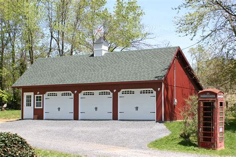 Saltbox Garage Plans by Economy Three Car Garages From The Amish