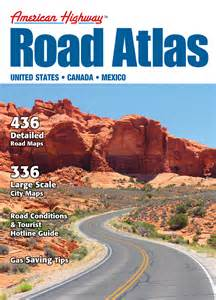 atlas road map american highway road atlas large format