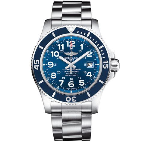 breitling superocean ii 44 steel blue automatic s