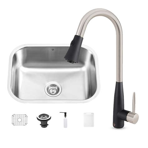 Black Kitchen Sink Faucet Vigo All In One Undermount Stainless Steel 23 In 0 Kitchen Sink And Milburn Stainless