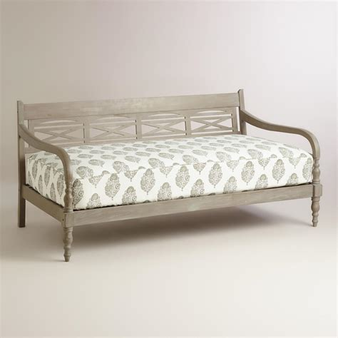 World Market Daybed Black And White Print Mattress Cover World Market
