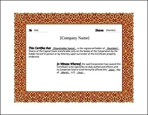 microsoft award certificate template sle templates