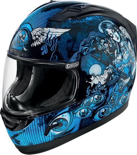 blue motocross helmets icon alliance nikova full face helmet blue