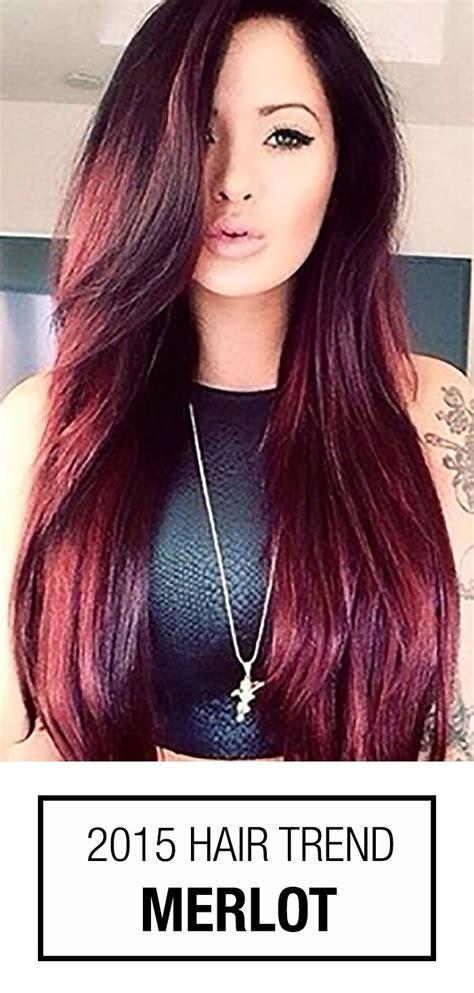 wine red hair color    popular trend  season