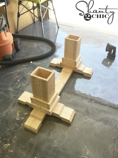 How To Build A Dining Room Table Plans by Diy Pedestal Coffee Table Shanty 2 Chic