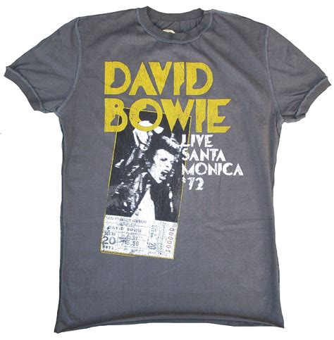 David Bowie Sliced Image T Shirt Size L Kaosband Import Official Merch lified vintage david bowie live santa 72 flyer t