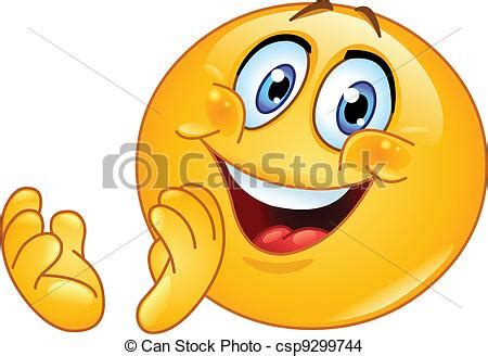 imagenes de iconos alegres eps vektor von emoticon klatschen csp9299744 suchen sie