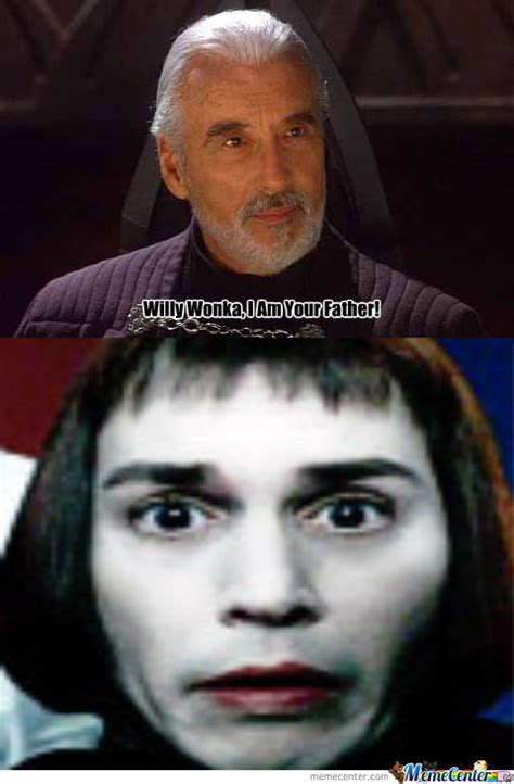 Count Dooku Meme - the guy that plays count dooku plays willy wonka dad by