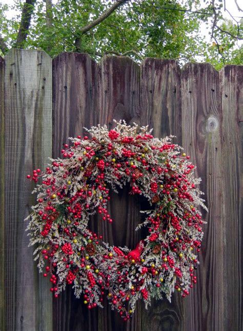 chilling handmade winter wreath designs   front door