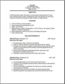 Exles Of Really Resumes by Real Estate Resume Objective Real Estate Resume Doe Writing Resume Sle Writing