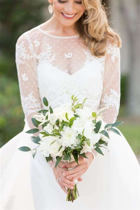 Wedding Bouquet And White by Green And White Bridal Bouquet Elizabeth Designs