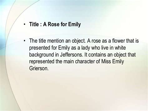 themes of the story a rose for emily formalist criticism a rose for emily