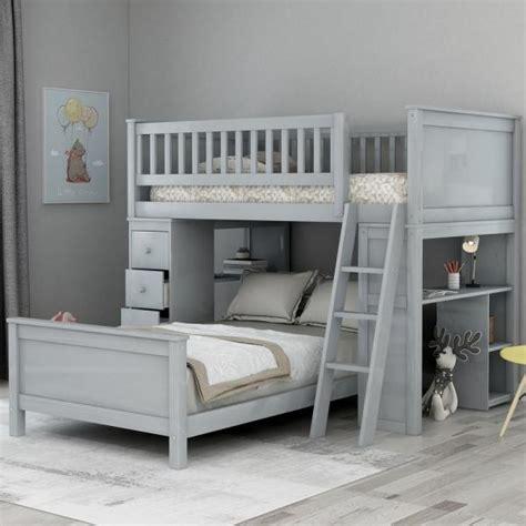 harper bright designs grey classic twin  twin bed