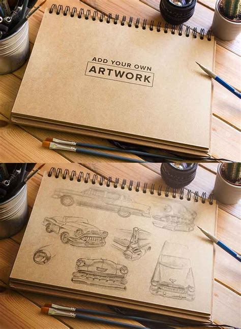 sketch mockup book free free 30 creative mock ups for artists