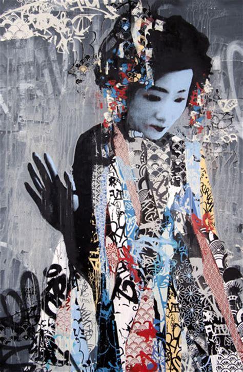 japan painting show gallery east meets west in hush s klimt esque