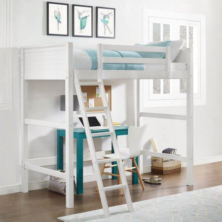 Your Zone Loft Bed by Your Zone Wood Loft Bed And Mattress Set Walmart