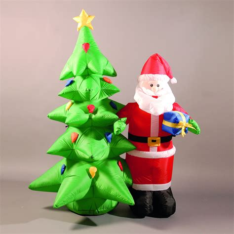 inflatable 180cm 6ft santa and christmas tree 163 58 65