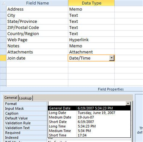 format date field in access query format the date and time field in access access