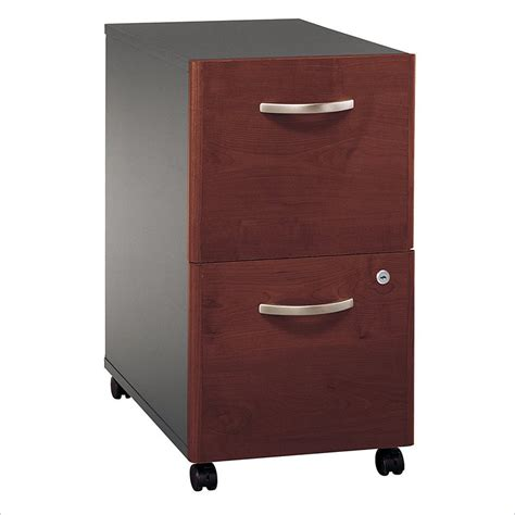 Bush Series C 2 Drawer Vertical Mobile Wood File Hansen Cherry Wood File Cabinet