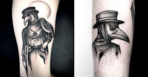 plague doctor tattoo a style suits a subject especially with plague
