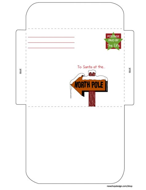 santa envelope template free santa letter envelope printable best friends for
