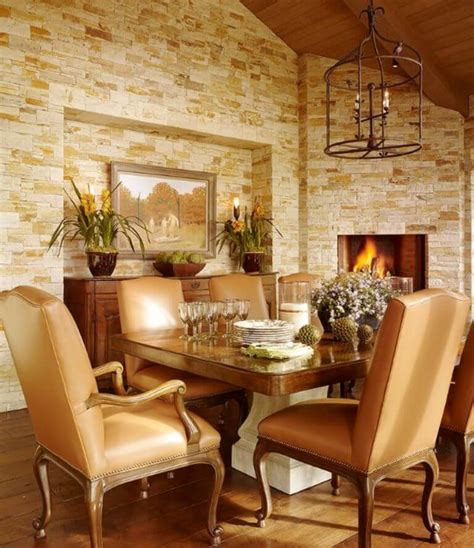 Rustic Dining Room Fireplace 8 Cozy And Modern Dining Rooms With Fireplace Https