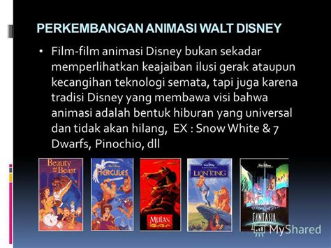 film disney bukan animasi презентация на тему quot mata kuliah dasar dasar animasi sri